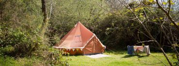 05_CTH Wild Camping – Valley View Orange Bell Tent